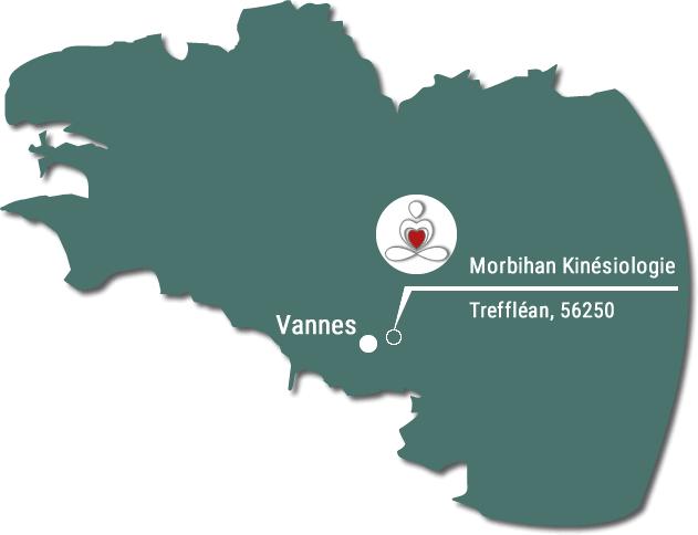 Localisation de Morbihan kinésiologie - Carte de Bretagne